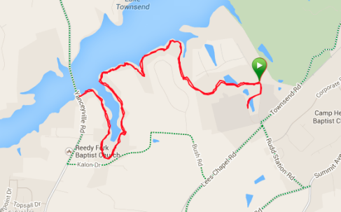 Lakeside Trail Race 8 miler route